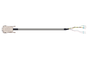 readycable® encoder cable acc. to Festo standard NEBM-S1G9-E-xxx-LE6, base cable PUR 10 x d