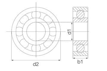 xiros® radial deep groove ball bearing, xirodur B180