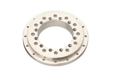 iglidur® slewing ring, PRT-01, stainless steel housing, sliding elements made from iglidur® F2