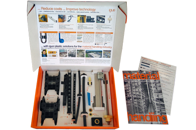 Material handling sample box