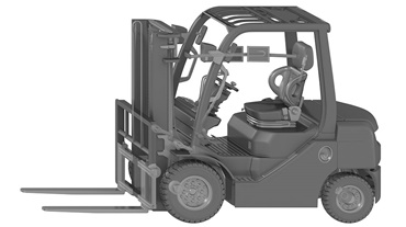 Forklift with special function